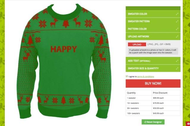 【朗報】クリスマスの定番「ダサいセーター」を自由にカスタマイズできるようになりました