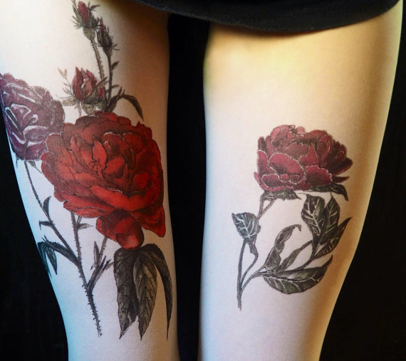 とっても華やかで素敵なタトゥータイツ♡ ブルガリア発でリアル感高めの洗練デザインですよ〜