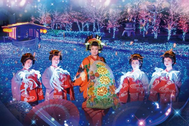 花魁やお侍さんもキラキラ光る!? 京都「東映太秦映画村」イルミネーションイベントがかなり攻めている件