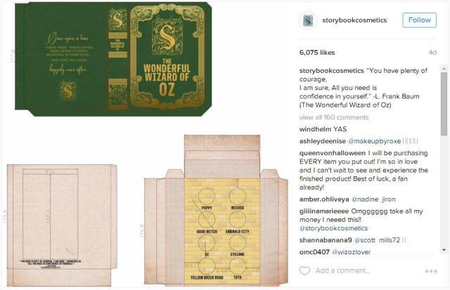 『オズの魔法使い』『ロミオとジュリエット』をイメージしたメイクパレットが本みたいで素敵! 目にするたびにテンション上がりそうです