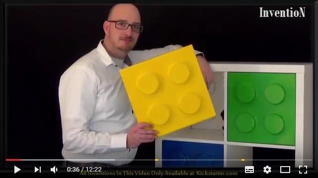 IKEAの定番シェルフをレゴ風にするアイディアがクラウドファンディングに登場 / カラフルな棚でポップなお部屋に!