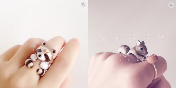 3つに分かれる動物指輪が可愛すぎるっ♡ 外した後のコロンとしたたたずまいにもキュンと来るよ!