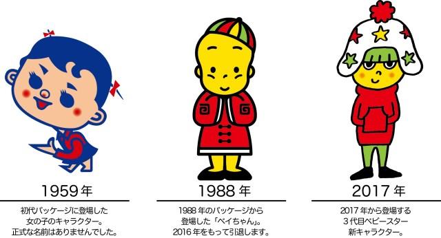 引退したベビースターラーメンのキャラクター「ベイちゃん」は2代目だった!? 初代はどんなキャラクターだったか知ってる?