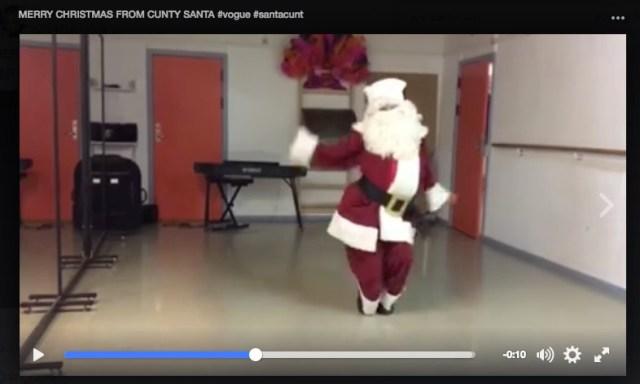 見た目はサンタクロースなのに動きは機敏でセクシー!? クリスマスにぴったりのダンス動画を見つけたよ☆