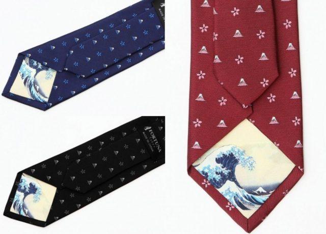 葛飾北斎の代表作「冨嶽三十六景」が西陣織ネクタイになったよ! 小粋なクリスマスプレゼントにいかが?