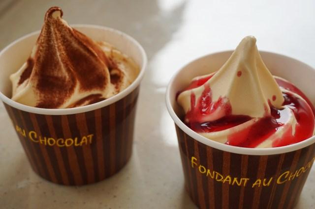 ミニストップ「フォンダンショコラ」2種を食べてみました / フォンダンショコラ・ワッフル・ソフトクリームそれぞれの食感と温度差が病みつきに♪