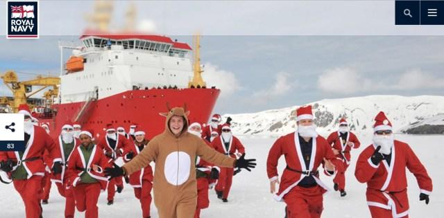 イギリス海軍がクリスマスに向けて本気モード / サンタやトナカイ姿の陽気な隊員の姿に元気をもらっちゃおう