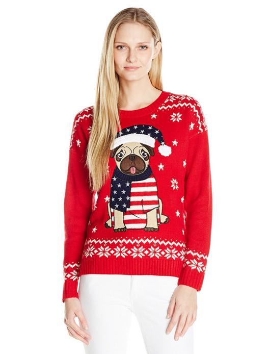 【メリークリスマス】2016年のダサいセーターは「パグ」柄で決まり! パグモチーフの「パグリーセーター」が海外で大人気