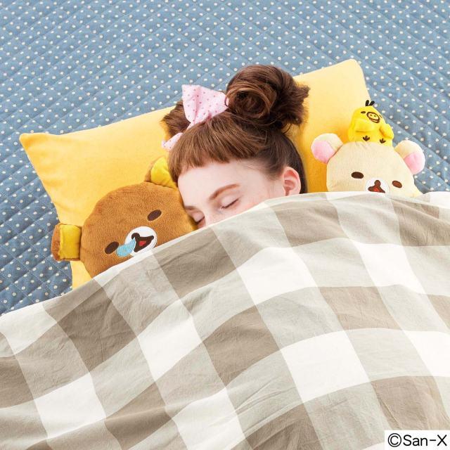 """リラックマたちと """"むぎゅむぎゅ"""" して眠れる!「リラックマ まくらカバー付き 至福の添い寝ぬいぐるみセット」がフェリシモから新登場したよ"""