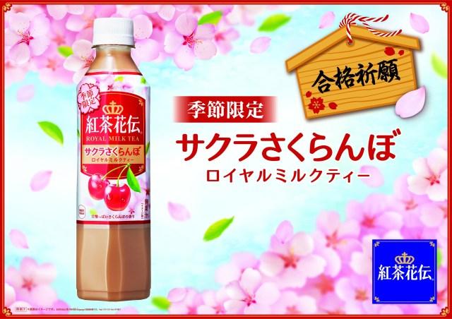さくらんぼの甘酸っぱい香りがふわり♪ パッケージもかわいい紅茶花伝の「サクラさくらんぼ」が新発売だよ!