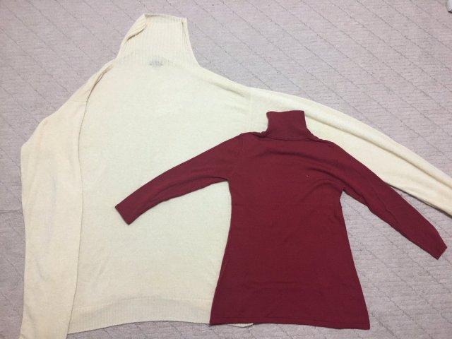 【悲報】Mサイズのセーターを洗濯したらなぜか15Lくらいの超ビッグサイズに伸びた