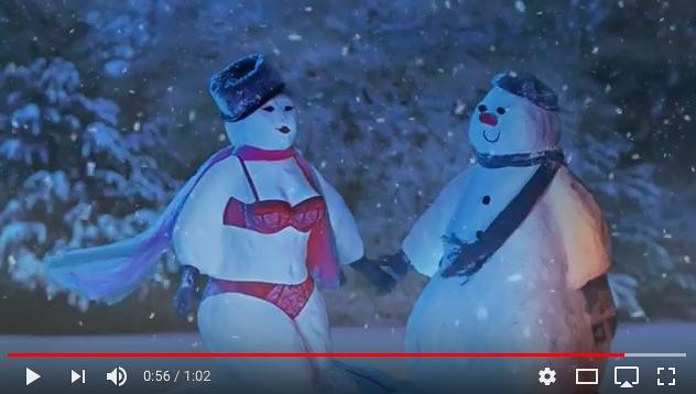 雪だるまが勝負下着を身につけてる!? 海外ランジェリーメーカーのクリスマスCMがとってもキュートなんです♪