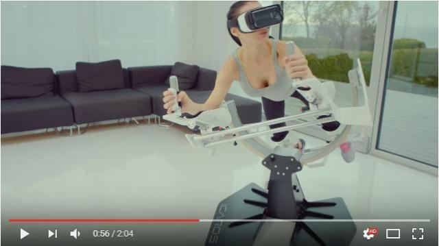 エクササイズ界にもついにVRマシンが登場!! 空を飛ぶなどゲーム感覚でシェイプアップできちゃう「イカロス」