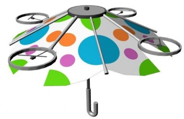 えっ、手で持たなくていい傘!? ドローンのように空中に浮かせる傘を現在開発中なんだって!