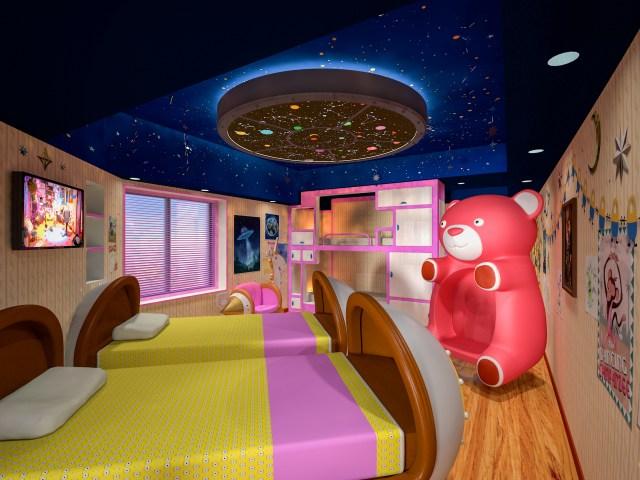 """ユニバのオフィシャルホテルに「ミニオンルーム」第2弾が登場 / 巨大なクマのチェアやユニコーンソファがある """"子ども部屋"""" だよ♪"""