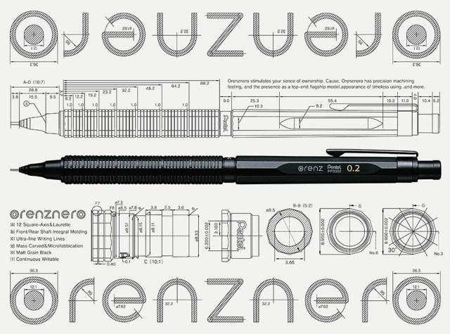【シャーペン革命や〜】ノック1回で0.2mmの極細文字を折れずに書き続ける! ぺんてるのシャープペン「オレンズネロ」が優秀すぎる