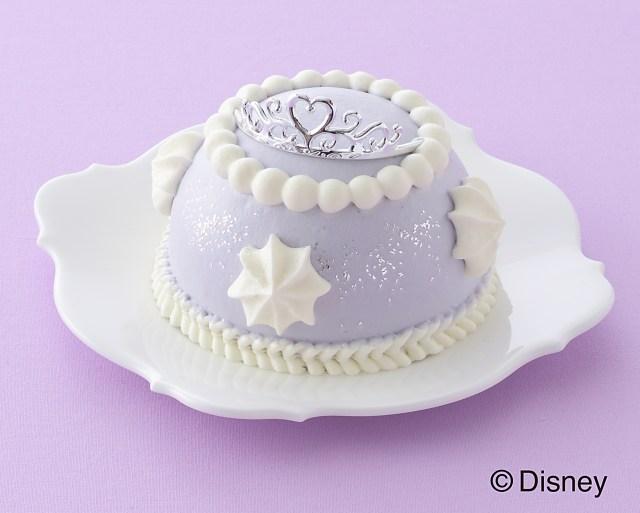 ディズニーアニメ「ちいさなプリンセス ソフィア」のケーキが出たよ♪ ラベンダー色のドレスみたいで夢かわいいのです☆