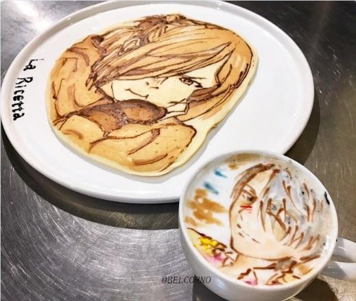 ラテアート&パンケーキアートで『ユーリ!!! on ICE』/ もはや芸術的なグルメアートの世界を御覧ください!!