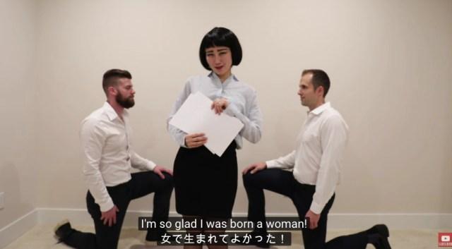 英語でブルゾンちえみの「キャリアウーマンネタ」をやってみた動画がじわじわくる!!! 英会話の勉強にもなるし一石二鳥です♪