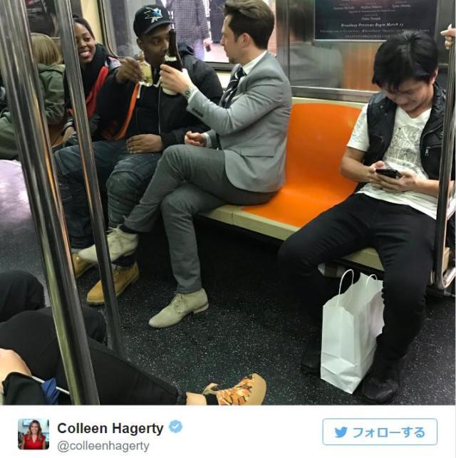 【ちょっとイイ話】真昼の地下鉄で見知らぬ人同士がシャンパンで乾杯☆ 突然起きた珍事に乗客全員が笑顔に