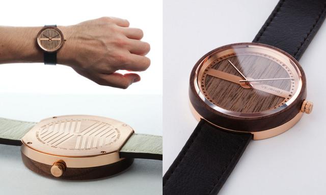 北欧デンマーク生まれの腕時計「ヴェアホイ」が日本初上陸! 文字盤に木を使った船の羅針盤みたいなデザインがシンプルでハイセンス