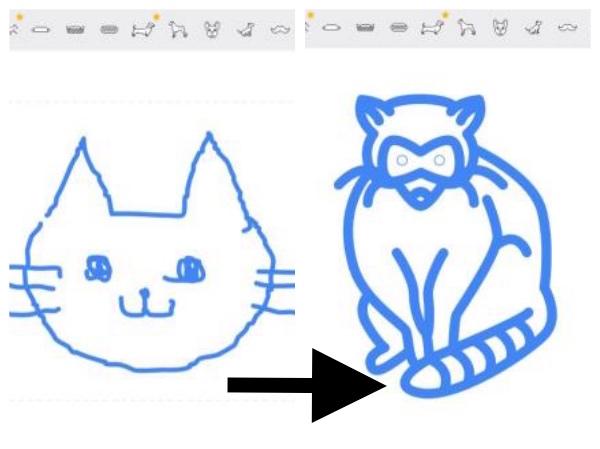 【なぜだ】丁寧にネコの絵を描いたのに「アライグマ」だと思われた! ヘタ絵をイラストに変換してくれる話題の「オートドロー」が無慈悲