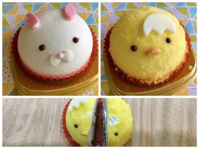 涙をのんでぶった切って…セブンの「ことり」 & 「うさぎ」のまんまるムースケーキは眺めて食べてほんわりシアワセ〜!