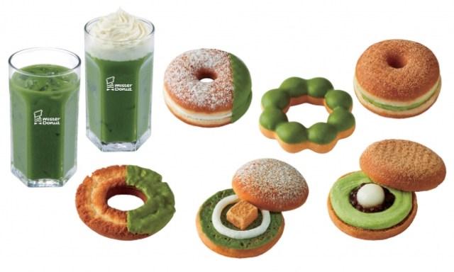 【絶対美味しい】ミスドが祇園辻利とコラボして抹茶祭りな新商品を発売! わらびもちや白玉などがサンドされたドーナツも
