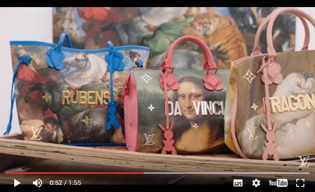 ルイ・ヴィトンから「ダ・ヴィンチ」や「ゴッホ」の名画が大胆に描かれたバッグが登場!! 現代アートの巨匠「ジェフ・クーンズ」とコラボした商品なのです♪
