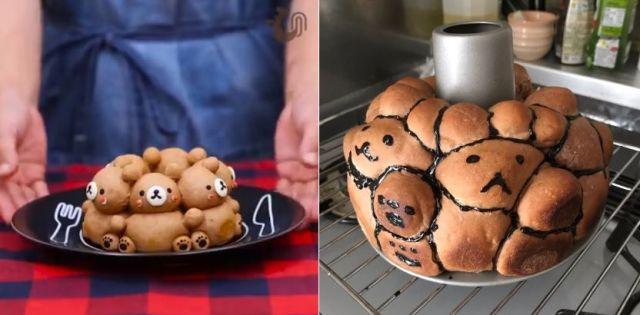 ぬいぐるみのような「クマの3Dちぎりパン」が完成するはずだったのに…謎のキャラクターが錬成されてしまう事態に