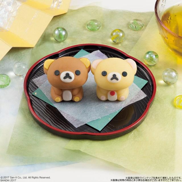 ちょこんと座ってじーっと見上げてくる…リラックマ&コリラックマの「全身」を再現した和菓子がバツグンにかわいい!!!