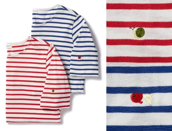 「サクラクレパス」がファッションブランドとコラボしたよ / ボーダーカットソーに刺繍されているのは…どこかで見たことあるキャラ!