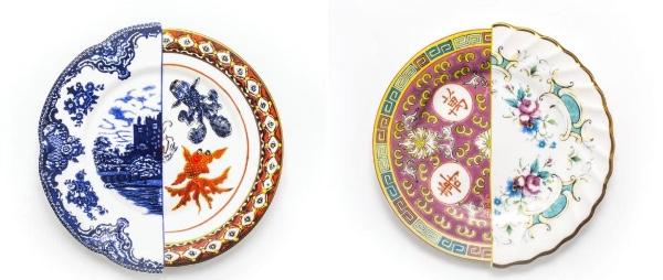 【芸術的】東洋と西洋のデザインが半分こ! 左右で絵柄も形も異なる「セレッティ」のお皿やグラスが美しい