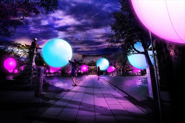 長崎県の大村公園が幻想的なデジタルアート空間に / チームラボによる光の球体が浮かぶライトアップイベントが開催されるよ!