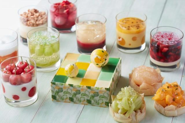 グランドハイアット東京の「サマースイーツ」がハイセンスすぎ! モザイクケーキに水玉模様のゼリー…これこそまさに宝石箱や~