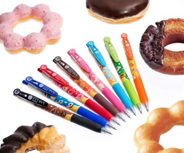 SARASAとミスドがまさかのコラボ! インクに甘~い香りが付いたコラボペンが可愛くって美味しそう!?