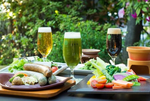 【夏季恒例】お茶づくしの「抹茶ビアガーデン」が今年も開催! 新作「和紅茶ビール」など10種のビールが飲み放題!!