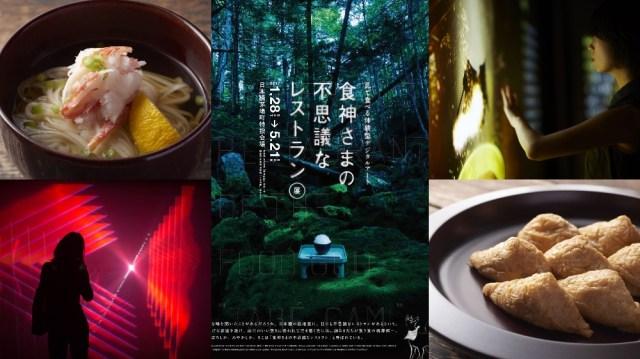 海外のデジタルアート集団が「和食」をメインとした『レストラン型アート展』を開催中! 食材になる体験や実際に食事もできるそうです