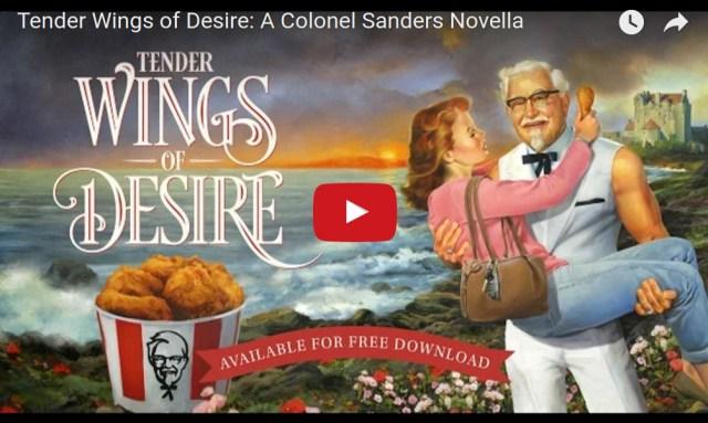 カーネルおじさんのロマンス小説が出版されたよ〜? KFCの母の日のプロモーションらしいけど一体どういうことなの!?