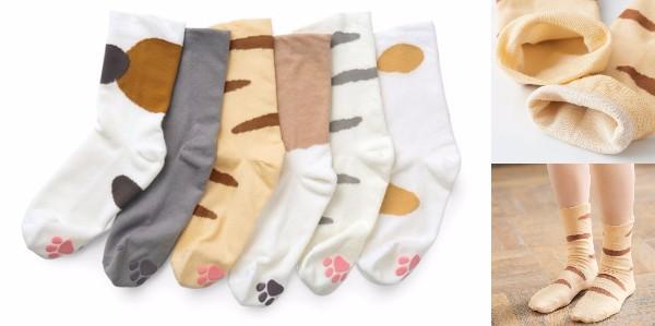 サンダルに合わせてもキュートだニャン♪ 猫の肉球と毛色を再現した「猫足ソックス」が発売されたよ