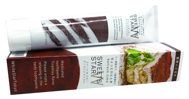 スイーツの代わりにレッツ・歯磨き♪ ダイエット中にぴったりの甘~い「ティラミス」味の歯磨き粉が新発売されたよ!