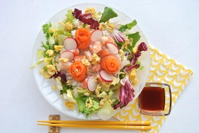 """酢飯に """"ゆず胡椒"""" を合わせた「乙女系ちらし寿司」が簡単美味しい♪ 6月27日は #ちらし寿司の日"""
