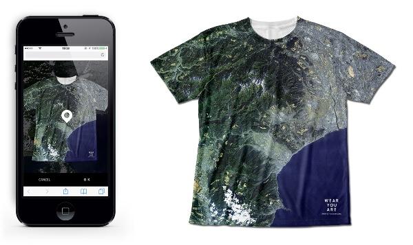 【ロマンチック】好きな場所の衛星画像をTシャツやスマホケースにしてくれるサービスが登場♪ プレゼントにもぴったりだよ