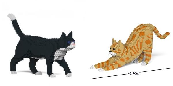 """ちょっと """"ドット絵"""" っぽいけどかなりリアル!? 猫や犬モチーフのブロック彫刻を作れるおもちゃ「JEKCAブロック」"""