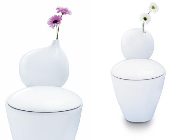えっ、便器に花!? お花を飾れるトイレ便器が登場したよ / 確かにおしゃれ空間を演出してくれそうだけど…