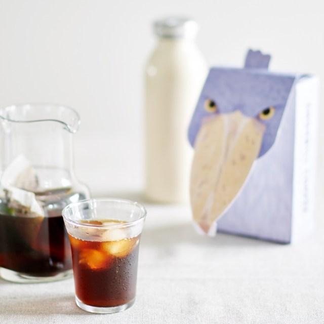 みんな大好きハシビロコウ先輩のコーヒーパックが爆誕 / じ~っと待つこと8時間でおいしいコーヒーが完成するのだ!