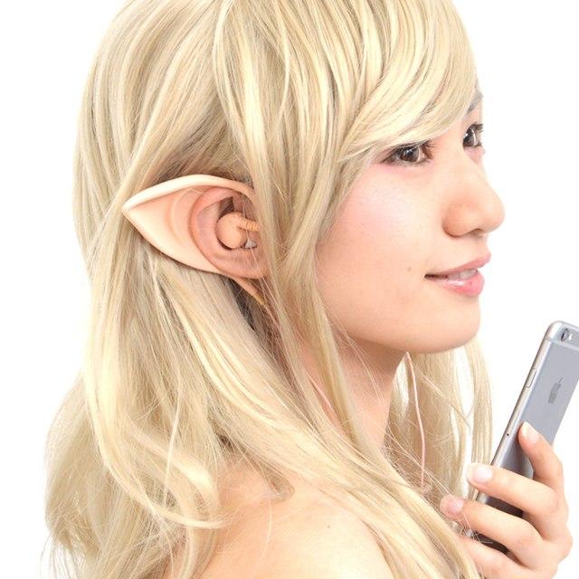 いつでもエルフに変身できるっ!? 装着するだけでかわいい「エルフ耳」になれるナイスアイデアなイヤフォンが新発売です☆