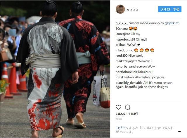 【ド迫力】大相撲・石浦関の「生首&幽霊」柄の着物が粋! ストリートカルチャーに造詣の深い「角界のオシャレ番長」なんだって