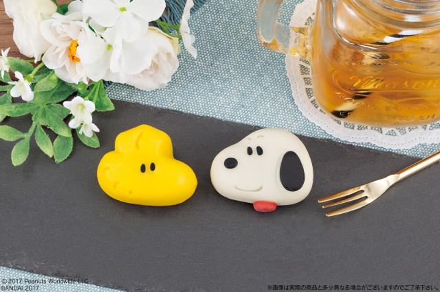 キャラ和菓子「食べマス」にスヌーピー&ウッドストックが登場だよ / どっちから食べようか迷っちゃうかわいさです!
