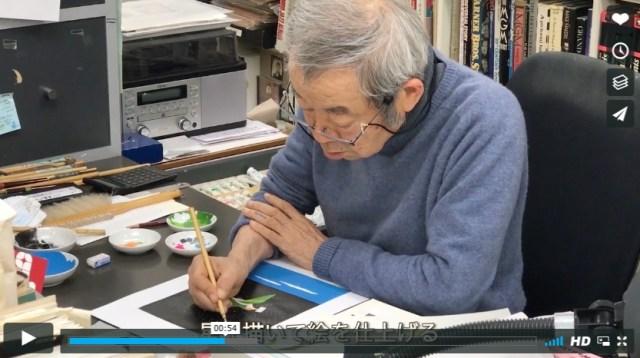 【祝】平野レミの夫・和田誠が『週刊文春』の表紙を描く姿が初公開されたよ / 7月20日号は2000枚目の記念号なんだって!